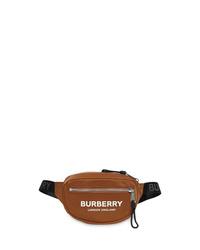 Riñonera de lona en tabaco de Burberry