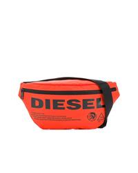 Riñonera de lona naranja de Diesel