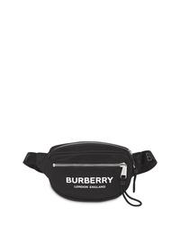 Riñonera de lona negra de Burberry