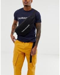 Riñonera de lona negra de Calvin Klein Jeans