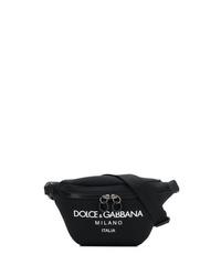 Riñonera de lona negra de Dolce & Gabbana