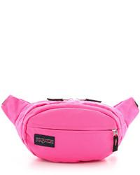 Riñonera de lona rosa de JanSport