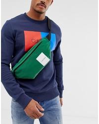 Riñonera de lona verde oscuro de Calvin Klein