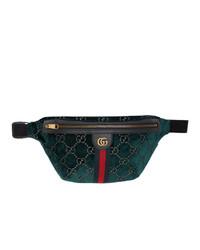 Riñonera de lona verde oscuro de Gucci