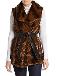 Comprar una ropa de abrigo de pelo en marrón oscuro  elegir ropas de ... 29410604b85e