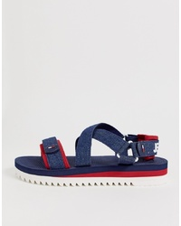 Sandalias azul marino de Tommy Jeans