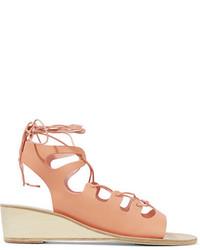 Sandalias con cuña de cuero marrón claro de Ancient Greek Sandals