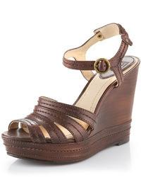 Sandalias con cuna marron oscuro original 2460651