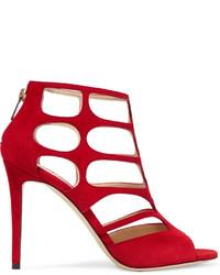 Sandalias de ante con recorte rojas de Jimmy Choo