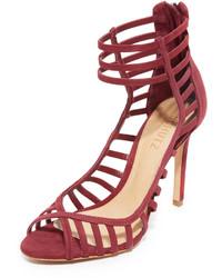 Sandalias de ante con recorte rojas de Schutz