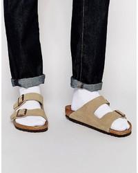 Sandalias de ante marrón claro de Birkenstock