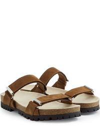 Sandalias de ante marrónes