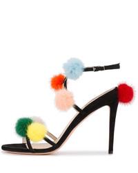 Sandalias de ante negras de Fendi