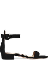 Sandalias de ante negras de Gianvito Rossi