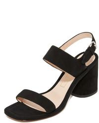Sandalias de ante negras de Marc Jacobs