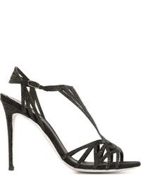 Sandalias de ante negras de Rene Caovilla
