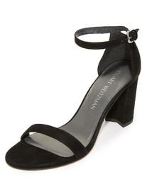 Sandalias de ante negras de Stuart Weitzman