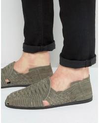 Sandalias de ante tejidas grises de Asos
