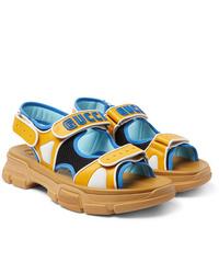 Sandalias de cuero amarillas de Gucci