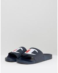Sandalias de cuero azul marino de Champion