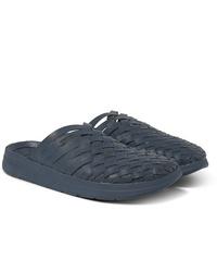 Sandalias de cuero azul marino de Malibu