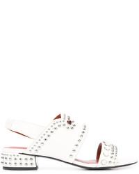 Sandalias de cuero blancas de 3.1 Phillip Lim