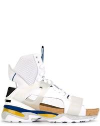 Sandalias de cuero blancas de Puma