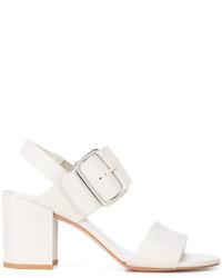 Sandalias de cuero blancas de Stuart Weitzman