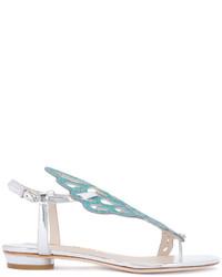 Sandalias de cuero con recorte celestes de Sophia Webster