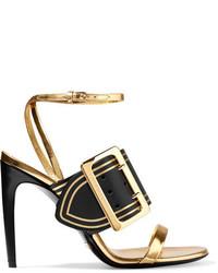 Sandalias de cuero doradas de Burberry