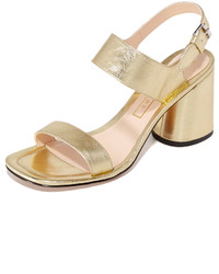 Sandalias de cuero doradas de Marc Jacobs