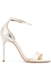 Sandalias de cuero doradas de Saint Laurent