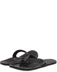 Sandalias de cuero en gris oscuro