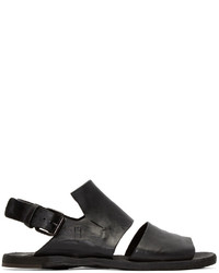 Sandalias de cuero en gris oscuro de Officine Creative