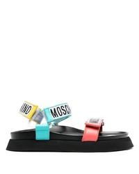 Sandalias de cuero en multicolor de Moschino