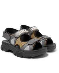 Sandalias de cuero grises de Gucci