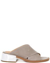 Sandalias de cuero grises de MM6 MAISON MARGIELA