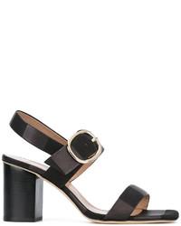Sandalias de cuero gruesas negras de Paul Smith