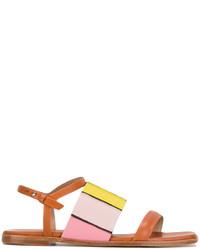 Sandalias de cuero marrón claro de Paul Smith