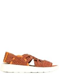 Sandalias de cuero marrónes de Missoni