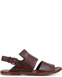 Sandalias de cuero marrónes de Officine Creative