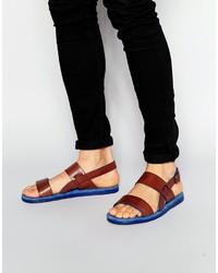 Sandalias de cuero marrónes de Ted Baker