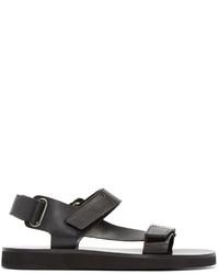Sandalias de cuero negras de A.P.C.