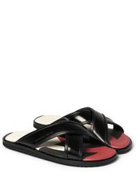Sandalias de cuero negras de Alexander McQueen