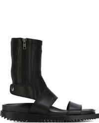 Sandalias de cuero negras de Ann Demeulemeester