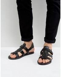 Sandalias de cuero negras de Asos
