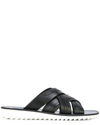 Sandalias de cuero negras de Dolce & Gabbana