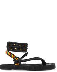 Sandalias de cuero negras de Etoile Isabel Marant