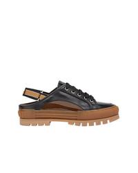 Sandalias de cuero negras de Fendi