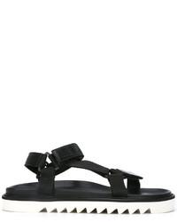 Sandalias de cuero negras de Golden Goose Deluxe Brand
